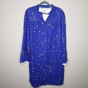 Nick & Nora Flannel Sleep Shirt XXL
